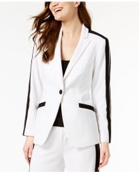 INC International Concepts - I.n.c. Petite Striped-sleeve Varsity Blazer, Created For Macy's - Lyst