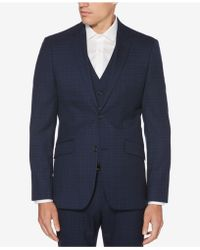 Perry Ellis - Slim-fit Washable Plaid Jacket - Lyst