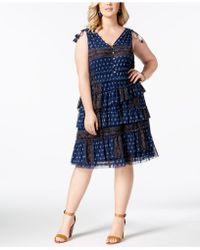 Love Scarlett - Plus Size Multi-tiered Tassel-trimmed Dress - Lyst