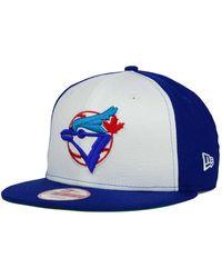 premium selection 311c2 22263 KTZ - Toronto Blue Jays 2 Tone Link Cooperstown 9fifty Snapback Cap - Lyst