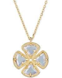 "Macy's - Sky Blue Topaz Clover Pendant Necklace (3-5/8 Ct. T.w.) In Sterling Silver, 16"" + 1"" - Lyst"