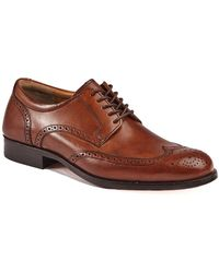 Johnston & Murphy Harmon Wingtip Dress Shoes - Brown