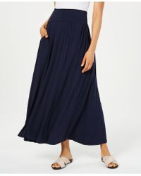 Style & Co. Petite Knit Maxi Skirt, Created For Macy's - Blue