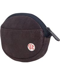 Token Leather Coin Purse - Brown