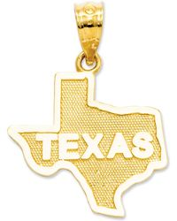 Macy's - 14k Gold Charm, State Of Texas Charm - Lyst