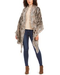 INC International Concepts Wrap Embroidered Sequins White Silver O//S Retail $38