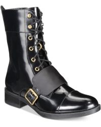 Kensie - Carilynn Lace-up Combat Boots - Lyst