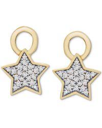 Macy's Diamond Star Earring Charms (1/10 Ct. T.w.) In 14k Gold - Metallic