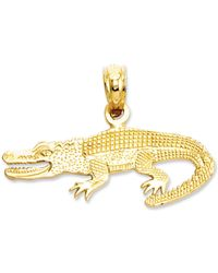 Macy's 14k Gold Charm, Textured Alligator Charm - Metallic