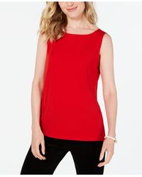 Charter Club Boat Neckline Top, Created For Macy's - Red