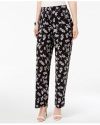 Vince Camuto - Printed Wide-leg Trousers - Lyst
