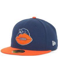 super popular a573d 37dde ... hot ktz chicago bears historic basic 59fifty hat lyst 8d56d c011a