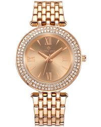 Timothy Stone 'burst' Roman Numeral Crystal Accented Boyfriend Bracelet Watch - Metallic
