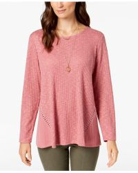 Style & Co. - Waffle-knit Top, Created For Macy's - Lyst