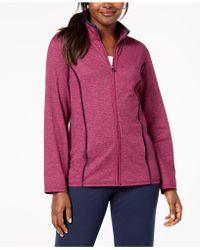 Karen Scott - Zip-front Space-dye Jacket, Created For Macy's - Lyst