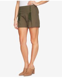 1.STATE - High-waist Lace-up Shorts - Lyst