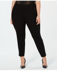 Anne Klein - Plus Size Zip-pockets Pull-on Skinny Trousers - Lyst