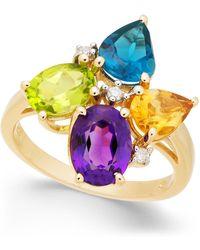 Macy's - Multi-gemstone (4 Ct. T.w.) & Diamond Accent Ring In 14k Gold - Lyst