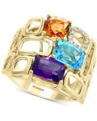 Effy Collection - Effy® Mult-gemstone (4 Ct. T.w.) & Diamond (1/10 Ct. T.w.) Statement Ring In 14k Gold - Lyst