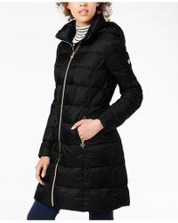 Michael Kors - Michael Hooded Packable Puffer Coat - Lyst