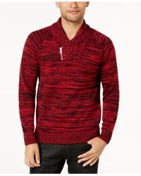 INC International Concepts - Men's Two-tone Shawl-collar Sweater - Lyst