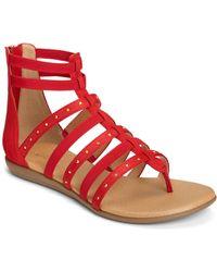 Aerosoles Nuchlear Gladiator Sandals - Red