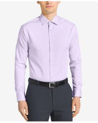 Calvin Klein - Steel Men's Classic Fit Non-iron Performance Solid Dress Shirt - Lyst