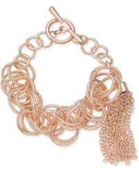 INC International Concepts - I.n.c. Gold-tone Multi-ring & Chain Tassel Toggle Bracelet, Created For Macy's - Lyst