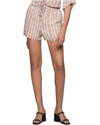 BCBGeneration Striped Paperbag Shorts - Multicolor