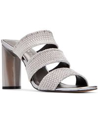 Katy Perry Cali Scrunchie Dress Sandals - Metallic