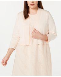 226edb9e6e7 Calvin Klein - Plus Size Blossom Shrug Cardigan - Lyst