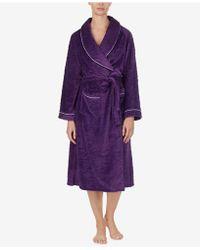 Eileen West - Sculpted Microfleece Wrap Robe - Lyst