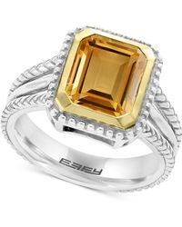 Effy Collection - Citrine Ring (2-9/10 Ct. T.w.) In Sterling Silver & 18k Gold - Lyst