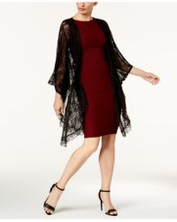 Steve Madden - Luxe Lace Draped Topper - Lyst