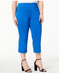 Alfani - Plus Size Pull-on Capri Pants, Created For Macy's - Lyst