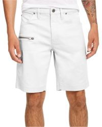 INC International Concepts Ollie Zipper Shorts, Created For Macy's - White