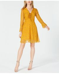 Maison Jules - Floral-print Ruched Fit & Flare Dress, Created For Macy's - Lyst