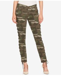 William Rast - Lace-up Camo Skinny Jeans - Lyst
