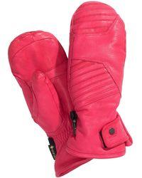 Spyder Turret Gtx Leather Ski Mittens - Pink