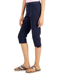 Style & Co. Petite Utility Capri Pants, Created For Macy's - Blue