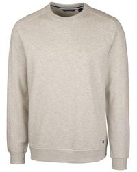 Cutter & Buck Saturday Crew Neck Sweatshirt - White
