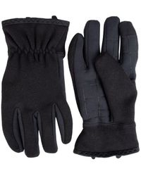 Levi's Stretch Heathered Knit Glove With Intelitouch Texting Touchscreen Technology - Black