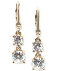 Ivanka Trump - Cubic Zirconia Two-stone Drop Earrings - Lyst