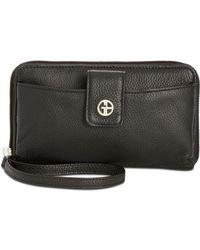 Giani Bernini Softy Leather Tech Wristlet, Created For Macy's - Black