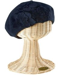 San Diego Hat Company - Wool Beret With Flowers - Lyst