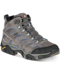 Merrell Moab 2 Mid Waterproof Sneakers - Grey