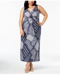 R & M Richards - Plus Size Embellished Maxi Dress - Lyst