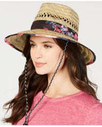 Betsey Johnson - Steve Madden Dusted Floral Bolo Woven Panama Hat - Lyst