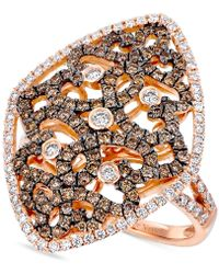 Le Vian - Diamond Filigree Ring (1-1/4 Ct. T.w.) In 14k Rose Gold - Lyst