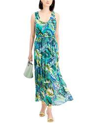 Nine West Chiffon Maxi Dress - Green